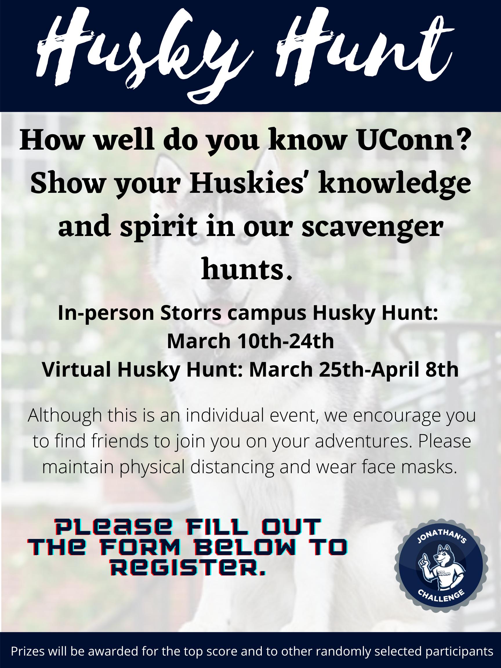Husky Hunt information sheet