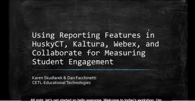 Reporting features slide images